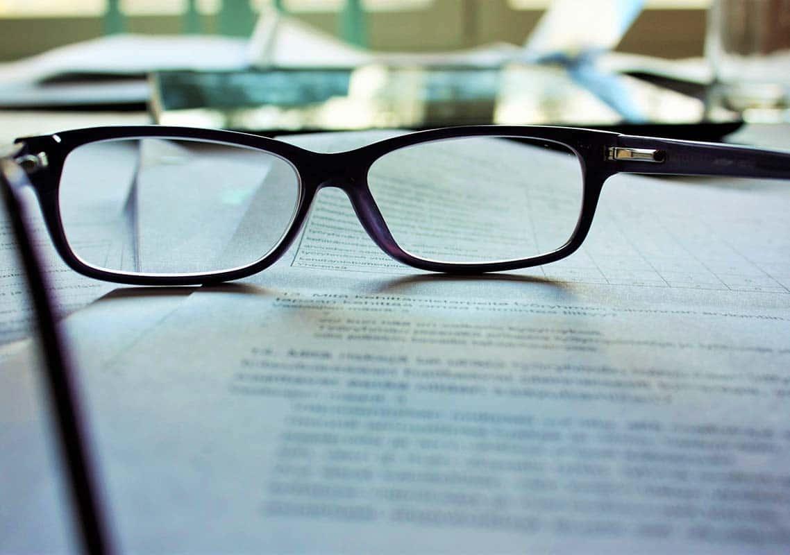 glasses administrative documents